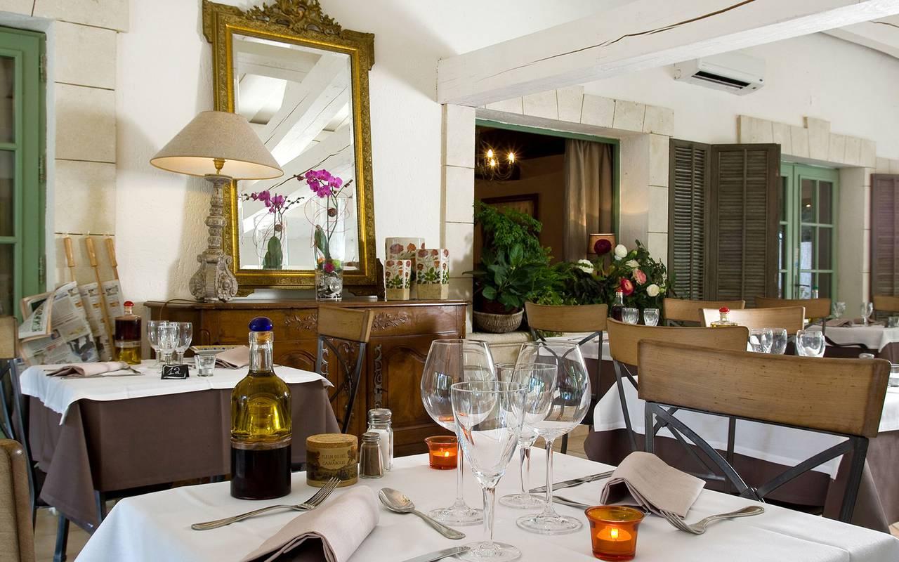 Chic restaurant charming hotel Camargue