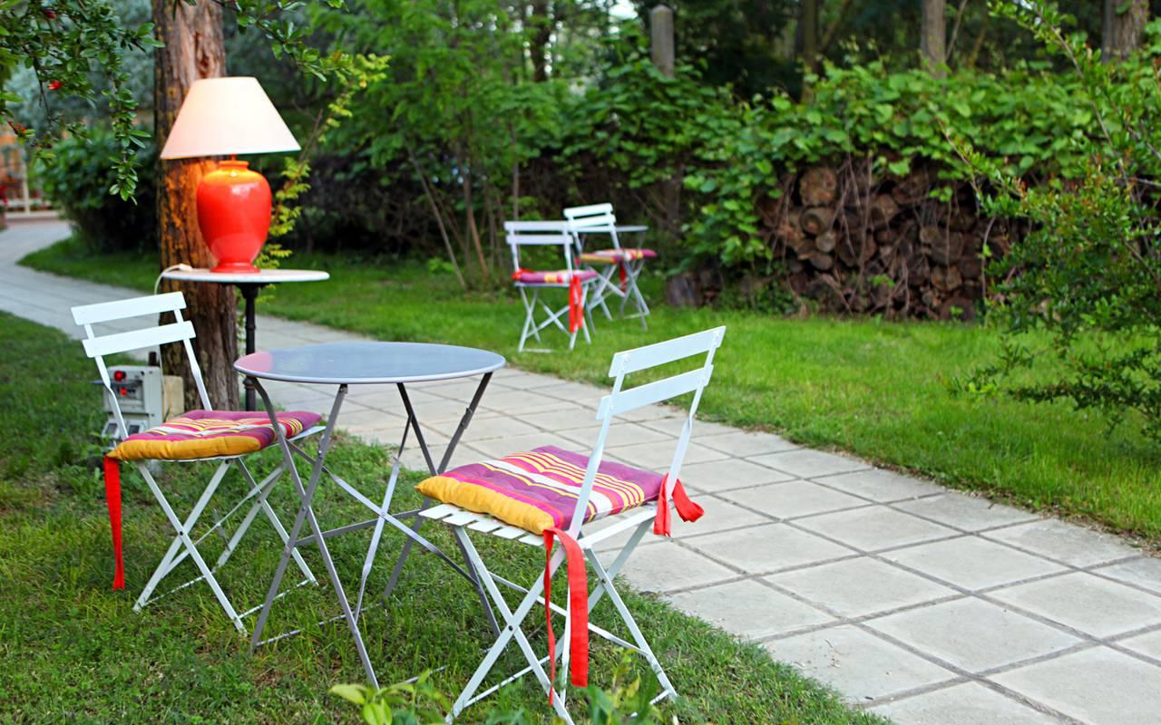 Salon de jardin hôtel de charme Camargue