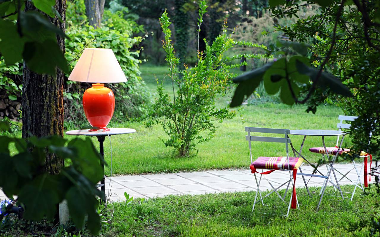 Jardin mignon hôtel de charme Camargue